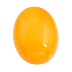 amber bone yellow cabochon 18x14 mm oval loose gemstone s15691