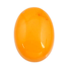 Natural 5.40cts amber bone yellow cabochon 18x13 mm oval loose gemstone s15696