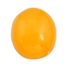 amber bone yellow cabochon 17.5x15 mm oval loose gemstone s15698