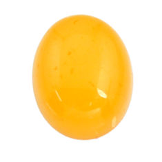 amber bone yellow cabochon 15x12 mm oval loose gemstone s15701