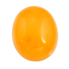Natural 4.15cts amber bone yellow cabochon 16x13 mm oval loose gemstone s15704