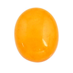 Natural 4.15cts amber bone yellow cabochon 15x12 mm oval loose gemstone s15706
