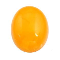 amber bone yellow cabochon 16x13 mm oval loose gemstone s15719