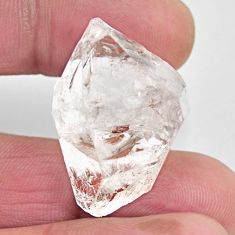 Natural 49.45cts herkimer diamond white rough 28x20 mm loose gemstone s15761