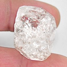 Natural 43.45cts herkimer diamond white rough 24x18 mm loose gemstone s15763