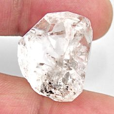 Natural 30.10cts herkimer diamond white rough 22x17 mm loose gemstone s15765