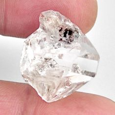 Natural 27.40cts herkimer diamond white rough 16x17 mm loose gemstone s15769