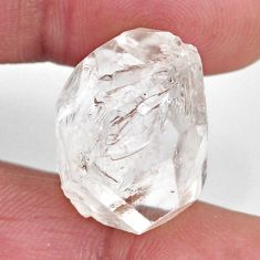 Natural 24.45cts herkimer diamond white rough 20x15 mm loose gemstone s15781
