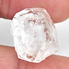 Natural 16.30cts herkimer diamond white rough 18x15 mm loose gemstone s15782