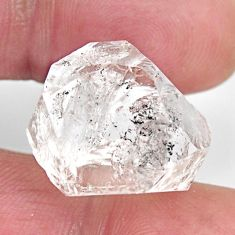 herkimer diamond white rough 17.5x16 mm loose gemstone s15788