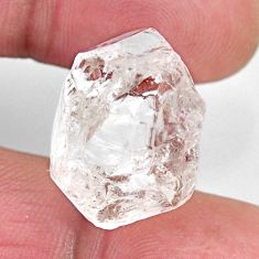 Natural 27.40cts herkimer diamond white rough 20x18 mm loose gemstone s15790