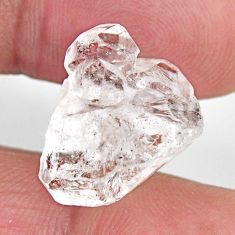 Natural 14.05cts herkimer diamond white rough 17.5x12 mm loose gemstone s15794