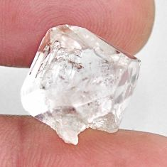 Natural 14.20cts herkimer diamond white rough 13x12 mm loose gemstone s15801
