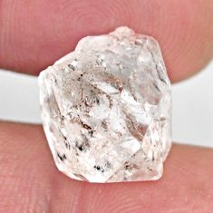 Natural 11.30cts herkimer diamond white rough 15x11 mm loose gemstone s15807