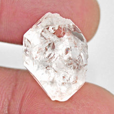 Natural 17.40cts herkimer diamond white rough 18x12 mm loose gemstone s15808