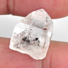Natural 16.30cts herkimer diamond white rough 17x13 mm loose gemstone s15811