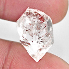 Natural 14.35cts herkimer diamond white rough 19x11 mm loose gemstone s15814