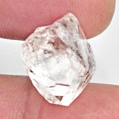 Natural 10.15cts herkimer diamond white rough 14x11 mm loose gemstone s15817