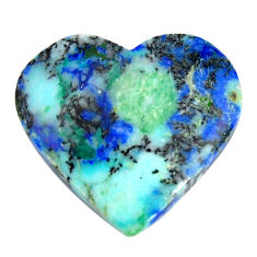 Natural 35.15cts turquoise azurite blue 26x24 mm heart loose gemstone s15839