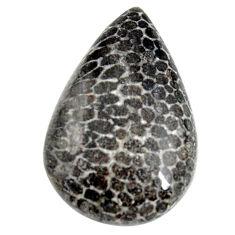 Natural 29.10cts stingray coral from alaska 28.5x18mm pear loose gemstone s15866