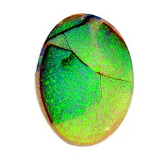 8.10cts australian fire opal green cabochon 26.5x18 mm loose gemstone s15995