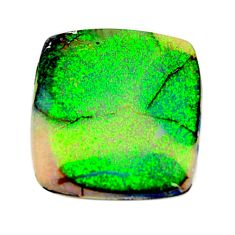 7.40cts australian fire opal green cabochon 20x18 mm loose gemstone s16007