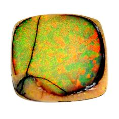 10.15cts australian fire opal green cabochon 20x19 mm loose gemstone s16008