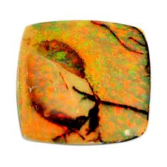 7.40cts australian fire opal green cabochon 19x19 mm loose gemstone s16012