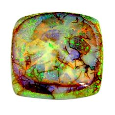 7.40cts australian fire opal green cabochon 18x18 mm loose gemstone s16013