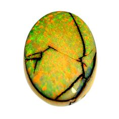 8.40cts australian fire opal green cabochon 21x15 mm fancy loose gemstone s16017