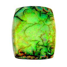 6.30cts australian fire opal green cabochon 17x13 mm loose gemstone s16023