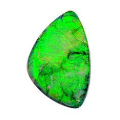 5.15cts australian fire opal green cabochon 22x13 mm loose gemstone s16037