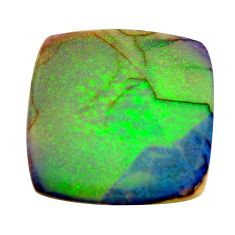12.40cts sterling opal multi color cabochon 22x22 mm loose gemstone s16051
