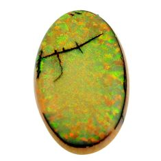 10.10cts sterling opal multi color cabochon 26x15 mm oval loose gemstone s16076