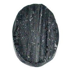 20.15ct raw black tourmaline protection stone 21x15mm oval loose gemstone s22528