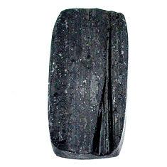 20.45ct raw black tourmaline protection stone mm loose gemstone s22538