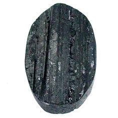 20.90ct raw black tourmaline protection stone 22.5x15 mm loose gemstone s22536