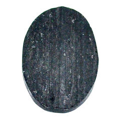 22.35ct raw black tourmaline protection stone 25x17mm oval loose gemstone s22532