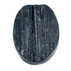 22.45ct raw black tourmaline protection stone 22x17mm oval loose gemstone s22531