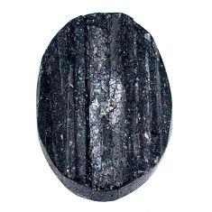 23.95ct raw black tourmaline protection stone 22x16mm oval loose gemstone s22539