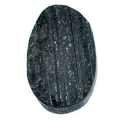24.30ct raw black tourmaline protection stone 23x15mm oval loose gemstone s22525
