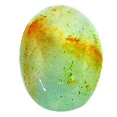 15.15cts aquatine lemurian calcite cabochon 20x14 mm oval loose gemstone s24325