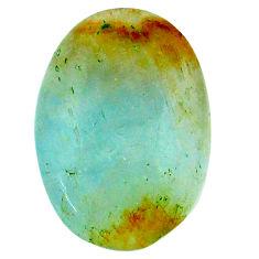 13.40cts aquatine lemurian calcite cabochon 21x15 mm oval loose gemstone s24336