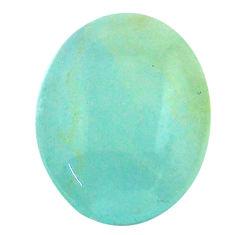 17.10cts aquatine lemurian calcite cabochon 21x16.5mm oval loose gemstone s24326