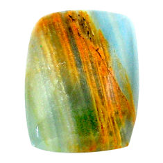 21.30cts aquatine lemurian calcite cabochon 23x17.5 mm loose gemstone s24312