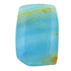 19.20cts aquatine lemurian calcite cabochon 25x16 mm loose gemstone s24243