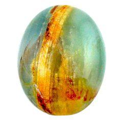 23.15cts aquatine lemurian calcite cabochon 25x19 mm oval loose gemstone s24315