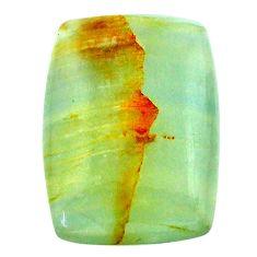 27.30cts aquatine lemurian calcite cabochon 26x19 mm loose gemstone s24263
