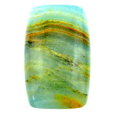 28.40cts aquatine lemurian calcite cabochon 28x17 mm loose gemstone s24300
