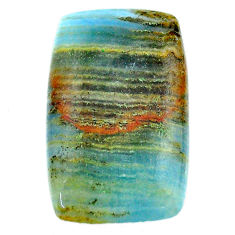 28.45cts aquatine lemurian calcite cabochon 30x18 mm loose gemstone s24297